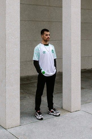 Мужская черная футболка с длинным рукавом от McCrain