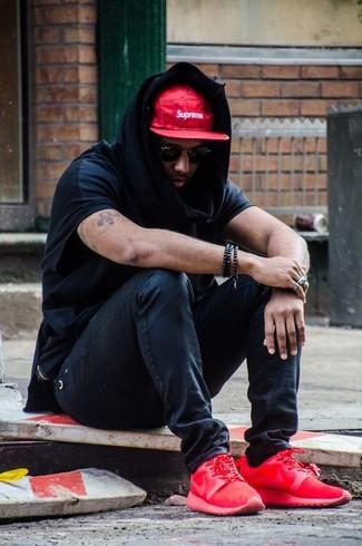 Мужские черные солнцезащитные очки от Cartier