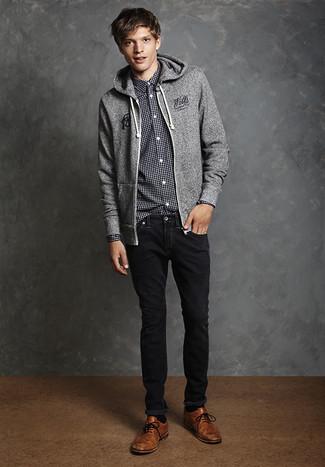 Мужской серый худи от adidas Originals