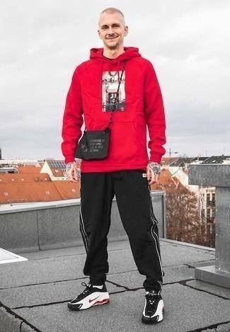 Мужской красный худи с принтом от Atributika & Club™