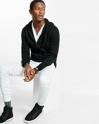 Мужской черный худи от Nike
