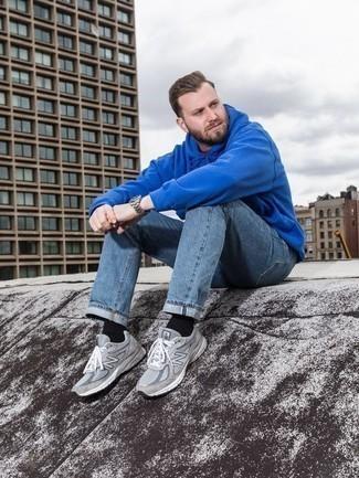 Мужской синий худи от adidas Combat
