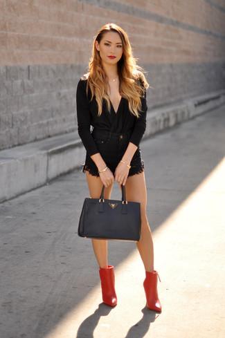 Черная блузка с длинным рукавом от Federica Tosi