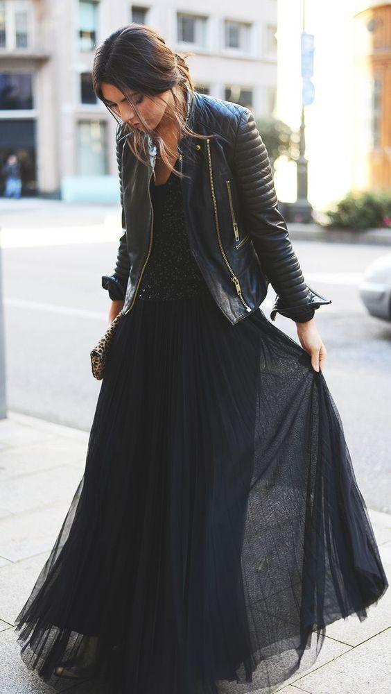Шифоновое черное  с чем носить