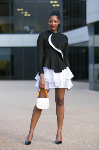 Черные кожаные туфли от Mirabella