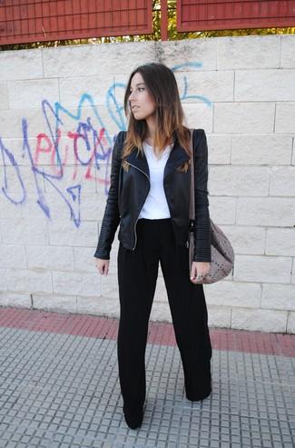 Черные широкие брюки от G.V.G.V.