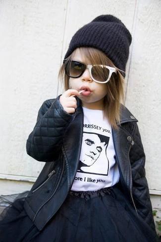 Детская черная юбка из фатина для девочке