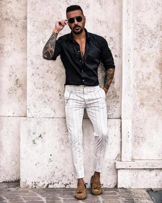 Мужская черная рубашка с длинным рукавом от Minimum
