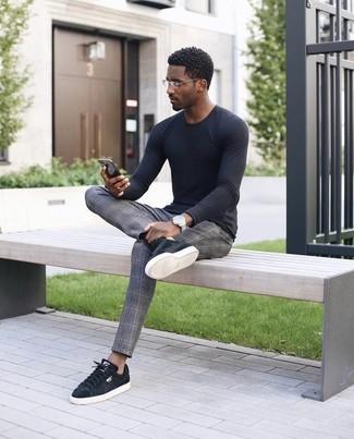 Мужские черные замшевые кеды от Polo Ralph Lauren