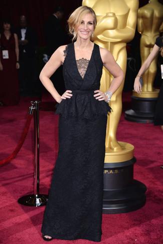 черное кружевное вечернее платье large 1382