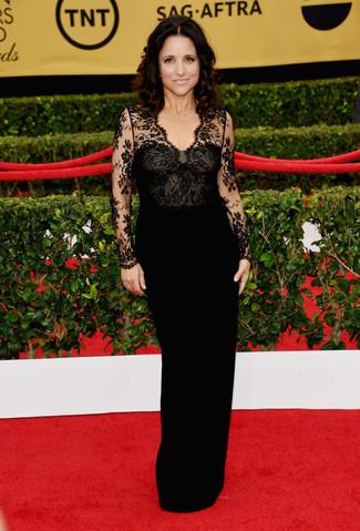 черное кружевное вечернее платье large 8025