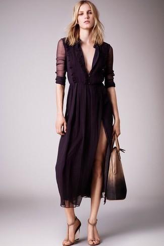 Светло-коричневая кожаная сумка-саквояж от Zanellato