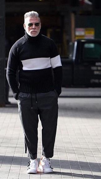 Мужские белые кожаные кроссовки от Nike
