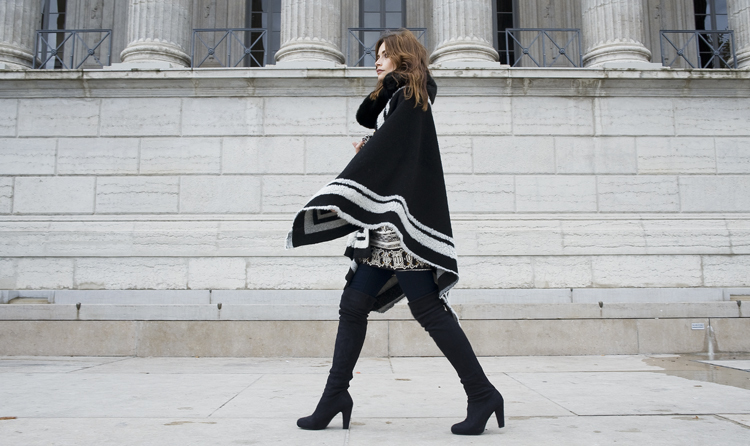 Черно-белое  и ботфорты