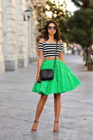 Зеленая пышная юбка купить