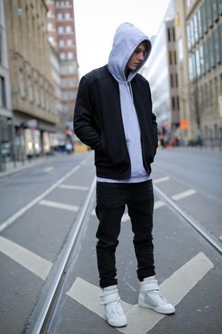 Мужской серый худи от Nike