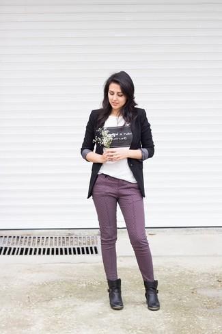 Женский черный пиджак от Manning Cartell