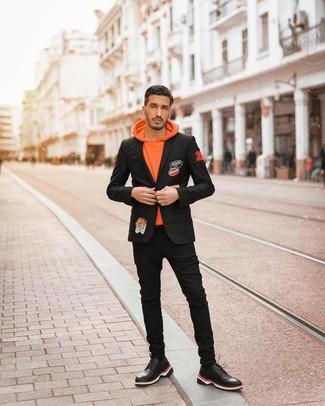 Мужские черные кожаные кроссовки от Mapleaf
