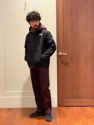 Темно-красные брюки чинос от Mudo