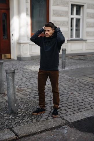 Мужской черный худи от adidas Originals
