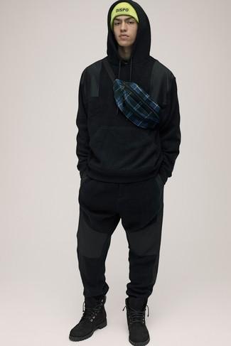 Мужской черный худи от adidas Combat