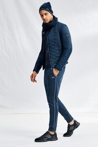Мужские темно-синие спортивные штаны от Joma