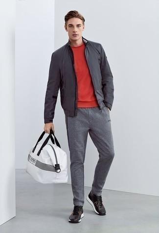 Мужские серые спортивные штаны от Nike