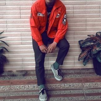 Мужская красная ветровка от adidas Performance
